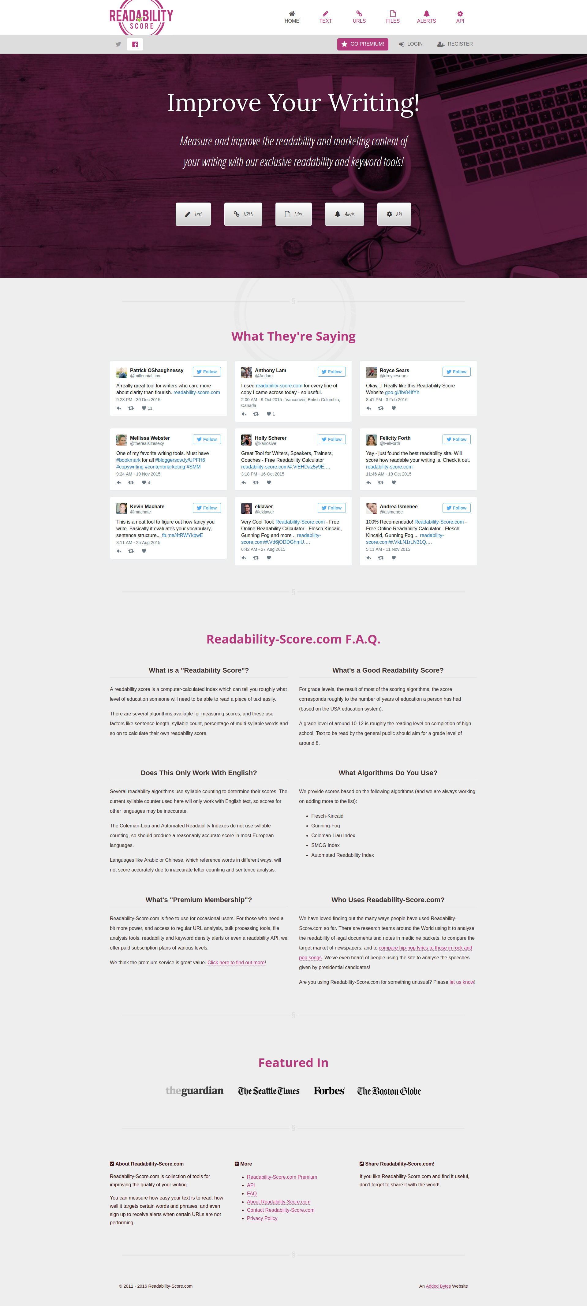Readability tests – siteimprove help center.