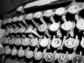 Dusty typewriter.